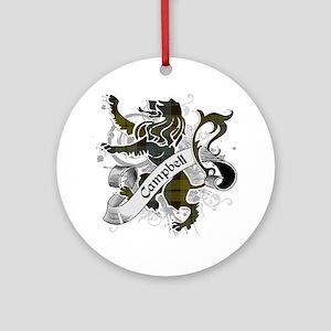 Campbell Tartan Lion Ornament (Round)
