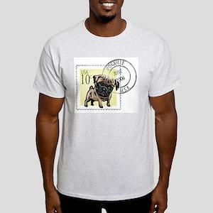 Pugville USA Ash Grey T-Shirt