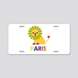 Paris the Lion Aluminum License Plate
