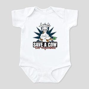 Save a Cow, Eat Vegetables! Infant Bodysuit