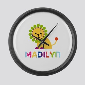 Madilyn the Lion Large Wall Clock