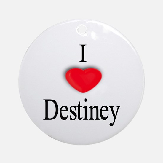 Destiney Ornament (Round)