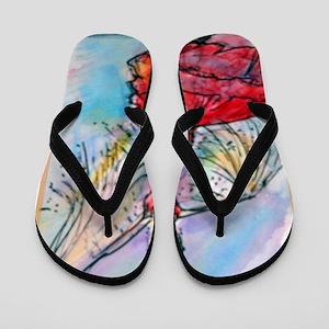 Flamenco Dancer, art, bright Flip Flops