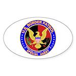 US Border Patrol SpAgnt Oval Sticker