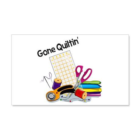 Gone Quiltin' 22x14 Wall Peel