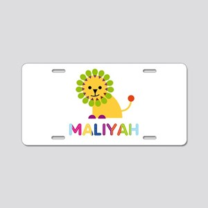 Maliyah the Lion Aluminum License Plate