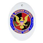 US Border Patrol SpAgnt Oval Ornament