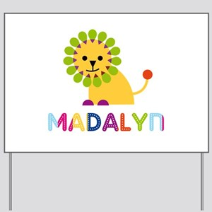Madalyn the Lion Yard Sign