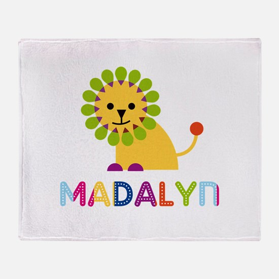 Madalyn the Lion Throw Blanket
