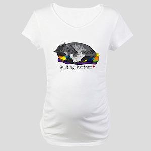 Quilting Partner Maternity T-Shirt