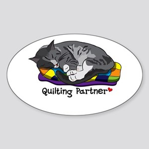 Quilting Partner Sticker (Oval)
