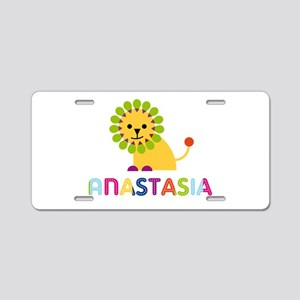 Anastasia the Lion Aluminum License Plate