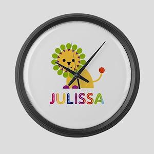 Julissa the Lion Large Wall Clock