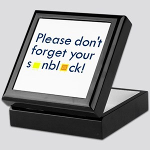 Please don't forget . . . Keepsake Box