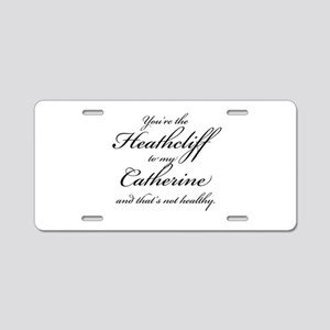 Heathcliff and Catherine Aluminum License Plate