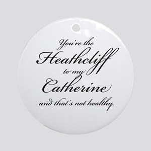 Heathcliff and Catherine Ornament (Round)