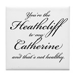Heathcliff and Catherine Tile Coaster