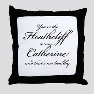 Heathcliff and Catherine Throw Pillow
