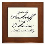 Heathcliff and Catherine Framed Tile