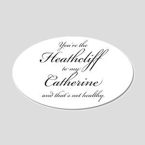 Heathcliff and Catherine 22x14 Oval Wall Peel