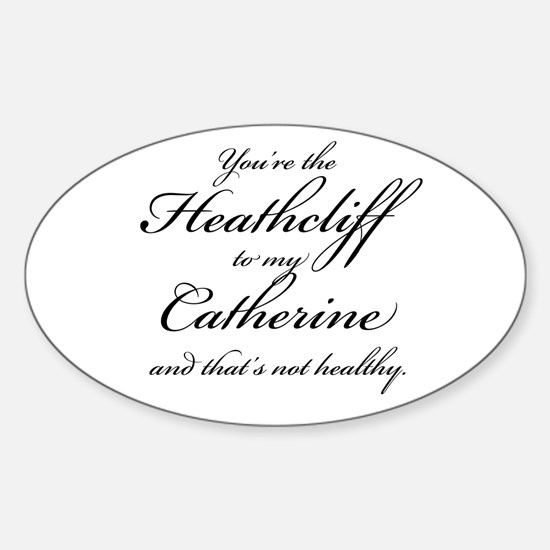 Heathcliff and Catherine Sticker (Oval)