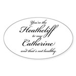 Heathcliff and Catherine Sticker (Oval 10 pk)