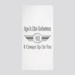 Funny 40th Birthday Beach Towel