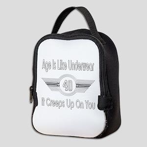 Funny 40th Birthday Neoprene Lunch Bag