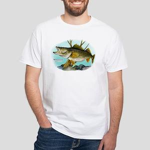 Walleye White T-Shirt