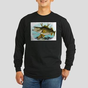 Walleye Long Sleeve Dark T-Shirt