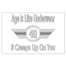 Funny 40th Birthday Large Poster