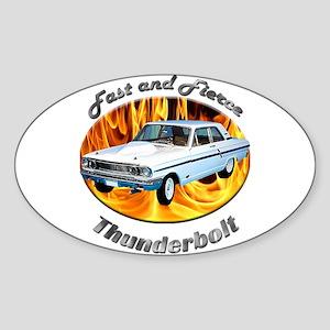 Ford Thunderbolt Sticker (Oval 10 pk)