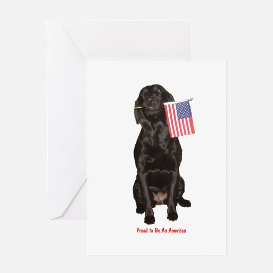 proud american Greeting Card