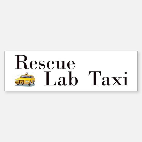 Rescue Lab Taxi Sticker (Bumper)