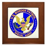 US Border Patrol SpAgnt Framed Tile