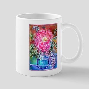 Flower, pink, peony, art, Mug
