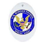 US Border Patrol SpAgnt Oval Ornament