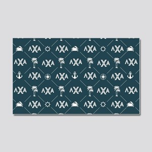 LCA Blue Pattern Car Magnet 20 x 12