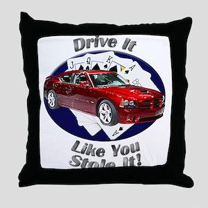 Dodge Charger SRT8 Throw Pillow