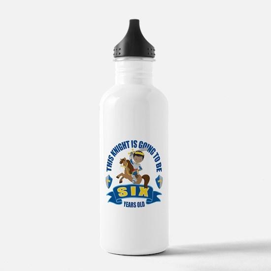 6th Birthday Knight Water Bottle