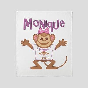 Little Monkey Monique Throw Blanket