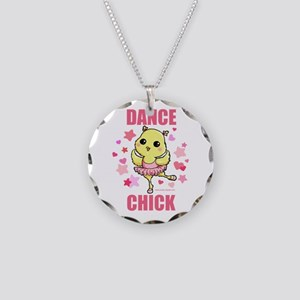 DANCE CHICK Necklace Circle Charm