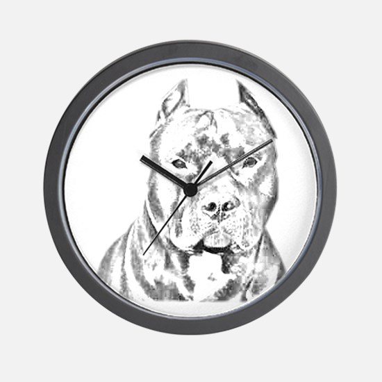 Pit Bull Head Wall Clock