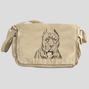 Pit Bull Head Messenger Bag