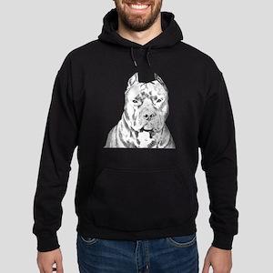 Pit Bull Head Hoodie (dark)