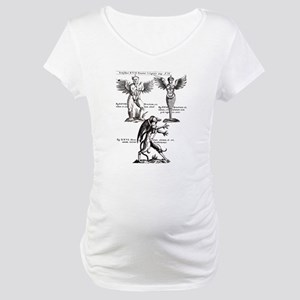 Vintage Monster Design Maternity T-Shirt