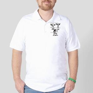 Vintage Monster Design Golf Shirt