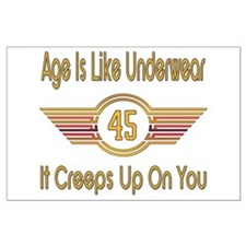 Funny 45th Birthday Large Poster