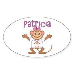 Little Monkey Patricia Sticker (Oval)