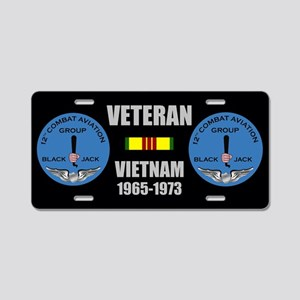 12th Aviation Combat Group Aluminum License Plate